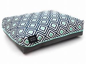 designer geometric dog beds lion wolf With patterned dog bed
