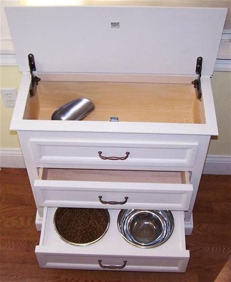 pet food cabinet diy feeding station ideas your pet will like fallinpets