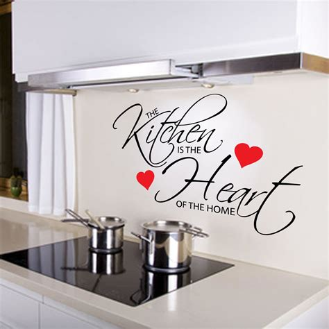 wall stickers for kitchen design kitchen is the of the home quote wall sticker 8887