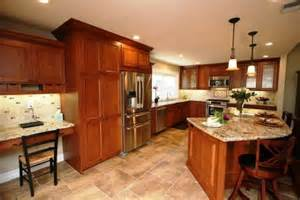 kitchen light cherry cabinets travertine floors design