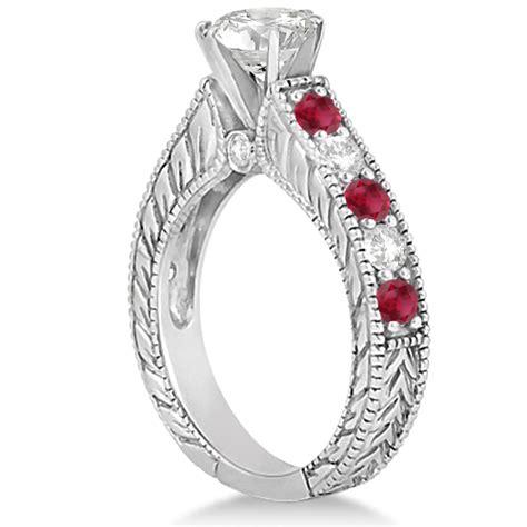 ruby wedding engagement ring platinum 2 75ct u3159