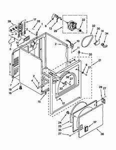 Amana 29 U0026quot  Electric Dryer Parts