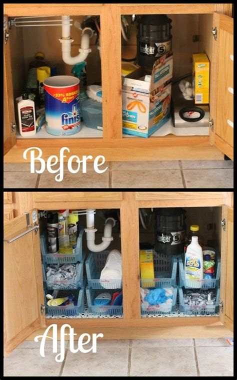 The Kitchen Sink Storage Ideas sink cabinet organization casa kitchen sink
