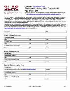 construction safety plan forms and templates fillable With site specific safety plan template construction