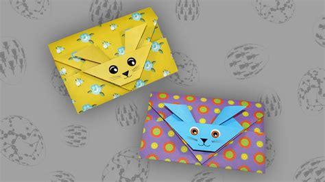 origami umschlag osterhase envelope faltanleitung