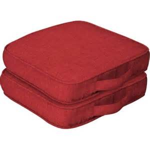 Walmart Patio Seat Cushions by Mainstays Outdoor Dining Seat Cushion With Handle Set Of