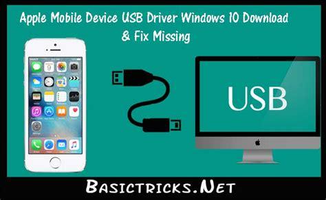 Apple Mobile Device Usb Driver Windows 10 Download & Fix