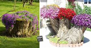 Comment Creuser Un Tronc D Arbre : transformer le tronc d 39 un arbre abattu en un pot de fleurs 20 id es ~ Melissatoandfro.com Idées de Décoration