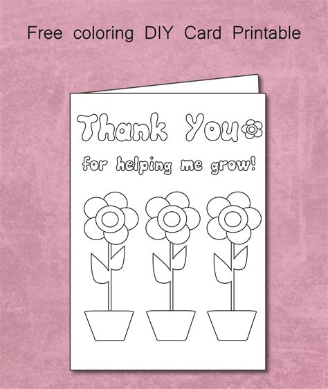 helping  grow coloring card