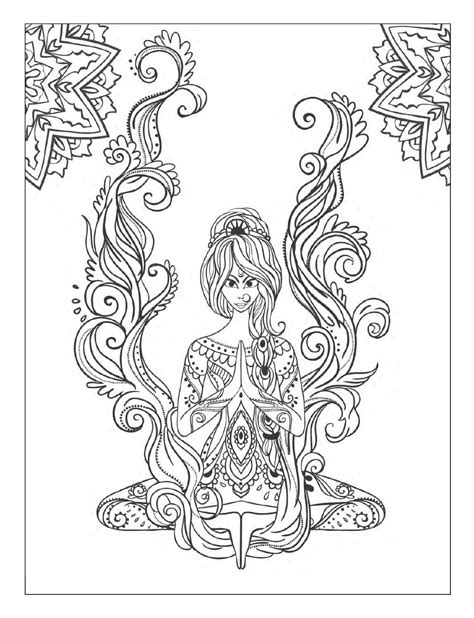 yoga and meditation coloring book for adults with yoga