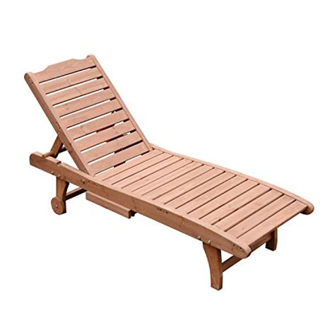 Chaise Lounge Pool Chairs by Outsunny Wooden Outdoor Chaise Lounge Patio Pool Chair W
