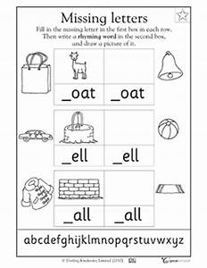 missing letters oat ell and all worksheets With missing letter word games