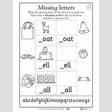 Missing Letters Oat, Ell, And All  Worksheets & Activities  Greatschools  Class Project
