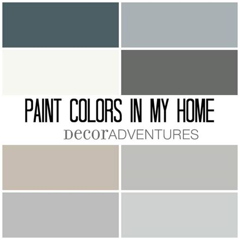 adventures in decorating paint colors paint colors in my home free printable house wood