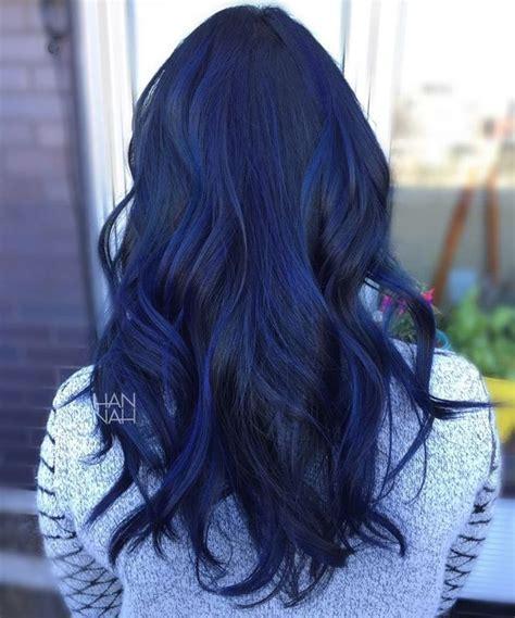 Blue Sapphire Balayage Fancyfollicles Hair Dyed Hair
