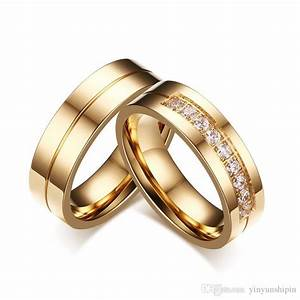 2018 2017 new style couple trendy wedding bands rings for With couple wedding ring