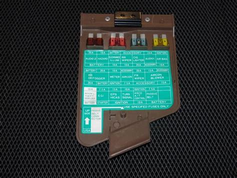 85 300zx Fuse Box by 90 96 Nissan 300zx Oem Brown Interior Fuse Box Cover
