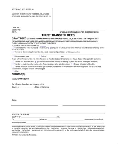 sample grant deed form   documents