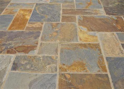 rustic copper slate patio paving slabs garden flags