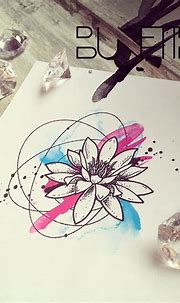 Lotus abstract watercolour geometric tattoo   Abstract ...