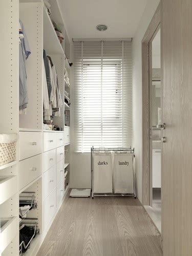 Narrow Walk In Closet by Narrow Closet Design Contemporary Closet