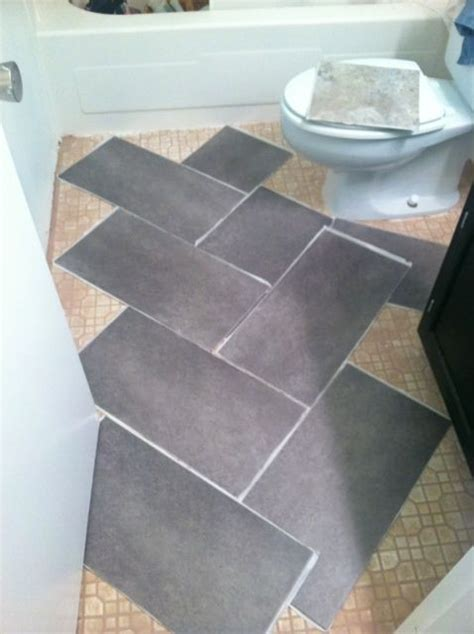 Temporary Tile Floortile Over Stained Concrete Floor