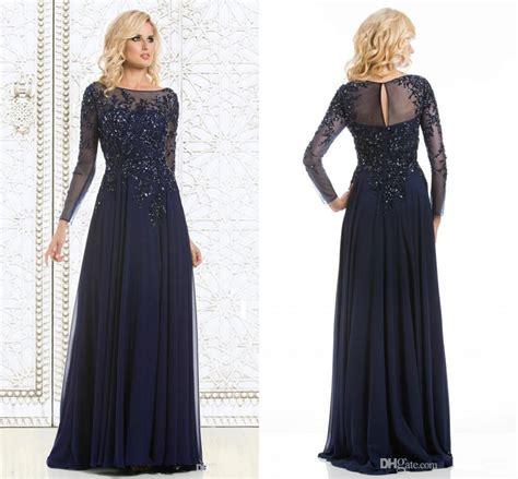 navy blue elegant mother   bride dresses