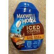 Good to the last drop. Maxwell House Iced Coffee Concentrate, Caramel, Coffee ...