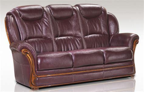 italian settee maia 3 seater sofa settee genuine italian burgandy leather