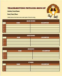 60 best potluck signup sheets for free 5th one will With thanksgiving potluck signup sheet template