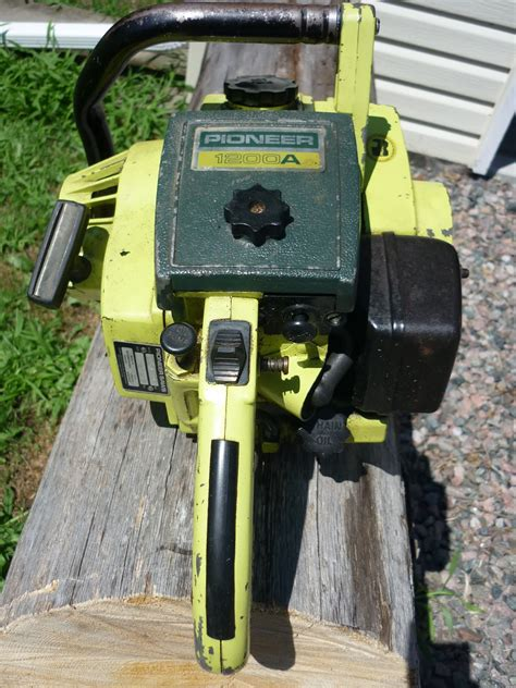 vintage chainsaw collection pioneer