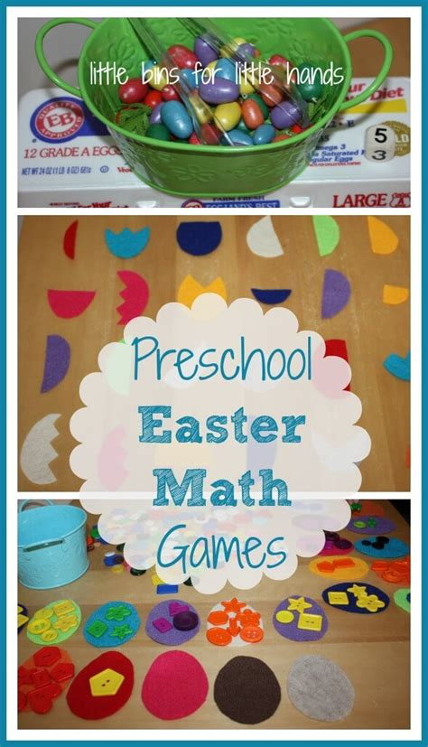 easter learning for letter recognition and math 936 | Easter Preschool Math Games