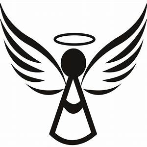 Best HD With Halo Xmas Wall Art Heart Angel Wings Clipart ...