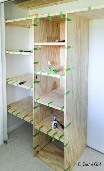 Building A Closet Shelf by Diy Custom Closet Just A