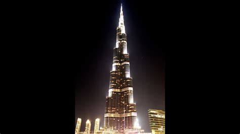 Burj Khalifa Led Lighting Show At Night 2016. Amazing And