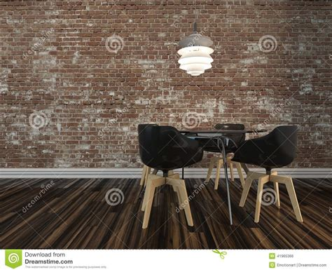 rustic floor l with table small modern dining table with rustic brick wall stock