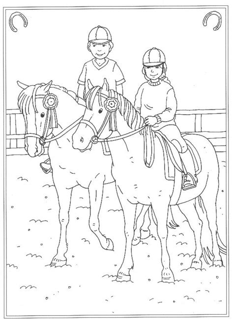 Kleurplaat Paarden Manege by Kleurplaten En Zo 187 Kleurplaten Op De Manege