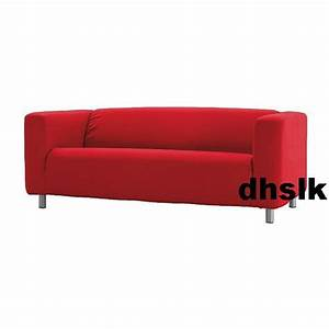 New ikea klippan loveseat sofa slipcover cover almas red for Red sectional sofa covers