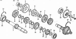 Honda Motorcycle 1982 Oem Parts Diagram For Transmission