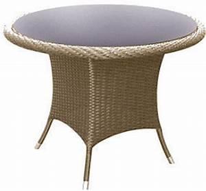 Polyrattan Tisch Rund : zebra tisch rund hastings esstisch alu polyrattan glas artjardin ~ Orissabook.com Haus und Dekorationen