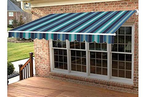 sunbrella retractable awning made retractable awning 18 w x 10 l left manual
