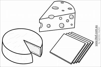 Cheese Template Coloring Templates Types Different Language