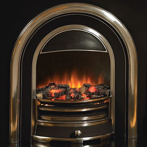 Electric Log Fireplace Heater by Flamerite Fires Tennyson Electric Cast Arch Stanningley