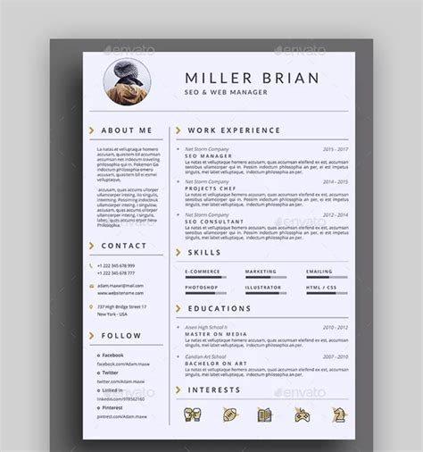 How To Layout Resume by 20 Awesome Resume Templates With Beautiful Layout Designs