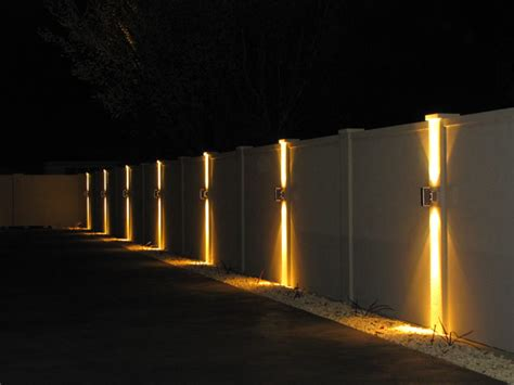 lights for fence is it possible to light up your fence line fence