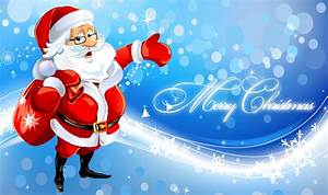 Cute Santa Merry Christmas Wallpaper - HD Wallpapers