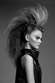 Avant-Garde Crimped Hairstyle