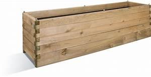 Bac En Bois Pour Plantes : jardini re bois ol a 252 litres 180 x 50 ~ Dailycaller-alerts.com Idées de Décoration