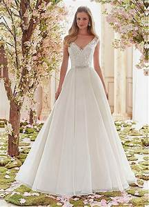 buy discount graceful tulle v neck neckline a line wedding With dressilyme wedding dress