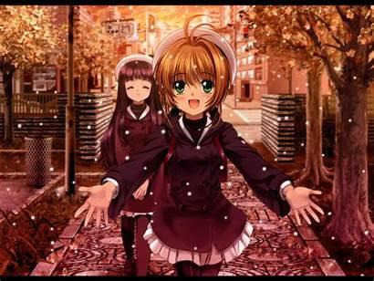 Sakura Desktop Cardcaptor Backgrounds Wallpapers Kinomoto Anime